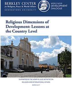 Berkely Center Religious Dimensions Of Development