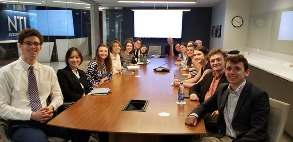 Students at the NTI Board Room